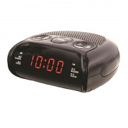 Radio cu Ceas Digital Happy Sheep, 220 V, LED, AM/FM Radio, 24 ore, Alarmă, Snooze, Negru