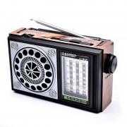 Radio Portabil pe Baterii Clasic Leotec, 3 W, Bandă FM/MW/SW, Antenă Telescopică, Negru/Maro