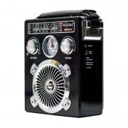 Radio Portabil cu MP3 Player, Ceas și Lanternă Waxiba 501C, Bandă AM/FM/SW, Antenă Telescopică, Negru