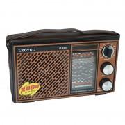 Radio Portabil pe Baterii Clasic Leotec, 12 Benzi, Bandă FM/MW/TV/SW1-9, Curea de Mână, Maro