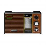 Radio Portabil pe Baterii Clasic Leotec, 20 W, 11 Benzi, Bandă FM/MW/SW1-9, Antenă Telescopică, Maro