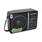 Radio Portabil pe Baterii Clasic Leotec, 15 W, Bandă FM/MW/SW, Antenă Telescopică, Negru