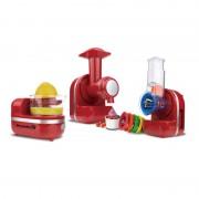 Robot de Bucătărie 3 în 1 Hausberg Diamonds, 150 W, Mașină Înghețată / Storcător Citrice / Aparat Tocat și Feliat, Diverse Culori