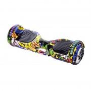 Scuter Electric Hoverboard Graffiti, LED-uri, Boxă Bluetooth, 20 km/h, Max. 120 Kg, Acumulator