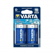 Set 2 Baterii Alcaline D R20 UM-1 MN1300 High Energy Varta, 1.5V, 2 Bucăți, Blister