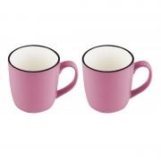 Set 2 Căni din Ceramică Vabene, 355 ml, 2 Piese, Diverse Culori