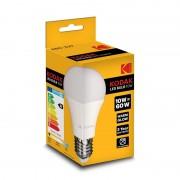 Set 3 Becuri LED Kodak, E27 / A60, 10W (60W), 806LM, 25.000 Ore, A+, Lumină Caldă
