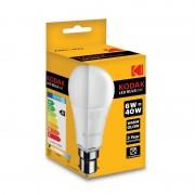 Set 3 Becuri LED Kodak, E27 / A60, 6W (40W), 480LM, 25.000 Ore, A+, Lumină Caldă