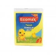 Set 3 Lavete Uscate pentru Uz General Ecomax, 30 x 35 cm, Diverse Culori