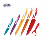 Set 6 Cuţite cu Lamă de Inox Peterhof, 6 piese, Lamă Colorată