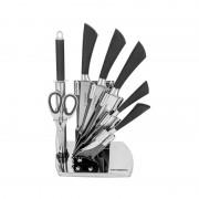 Set 6 Cuţite şi Dispozitiv de Ascuţit Grunberg, 8 piese, Inox, Suport inclus, Diverse Culori