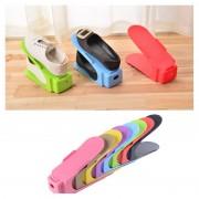 Set 6 Organizatoare tip Suport pentru Pantofi Shoe Slotz, 26 cm, Plastic PVC, Diverse Culori