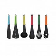 Set 6 Ustensile din Plastic pentru Gătit Grunberg, 6 piese, Fără Suport, Multicolor