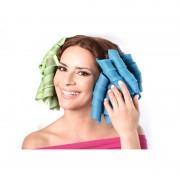 Set de 16 Bigudiuri Spiralate Flexibile Hair WZ, Bucle Rapide, 18 piese