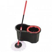 Set Găleată şi Mop Rotativ fără Pedală Black Edition Grunberg, 1 Rezervă, Negru