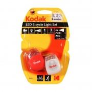 Set Lumini pentru Bicicletă Kodak Bicyle Light Set, 3 Funcții, IP64, Lumină Față și Spate