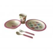 Set Mic Dejun pentru Copii din Fibre de Bambus Grunberg, 5 piese, Biodegradabil, Diverse Culori