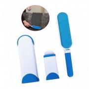 Set Perii pentru Curățat Părul de Animale și Scame HFW Pet Kit, Dublu, Micro Perie, Auto-Curățare