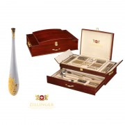 Set Tacâmuri 12 Persoane Premium and Luxurious Zillinger, 72 piese, Inox 18/10, Cutie Lemn
