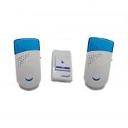 Sonerie fără Fir Dublă Wireless Doorbell Luckarm, Alimentare Priză, Buton cu Baterie, Diverse Culori