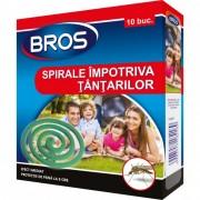 Spirale anti Țânțari Bros, 10 bucăți, Pentru Spații Deschise, Gradini, Terase
