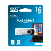 Stick de Memorie USB GOODRAM Flash Drive, 16GB, USB 2.0, Model UTS2, Negru