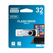 Stick de Memorie USB GOODRAM Flash Drive, 32GB, USB 2.0, Model UTS2, Negru