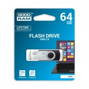 Stick de Memorie USB GOODRAM Flash Drive, 64GB, USB 2.0, Model UTS2, Negru
