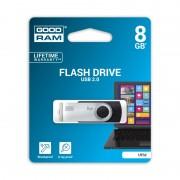 Stick de Memorie USB GOODRAM Flash Drive, 8GB, USB 2.0, Model UTS2, Negru