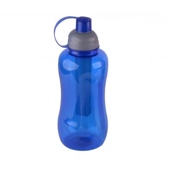 Sticlă Sport cu Pai pentru Apă Fitness DeKassa, 1 Litru, Plastic, Diverse Culori