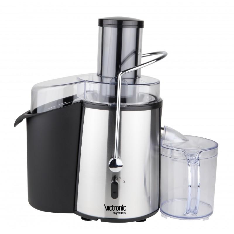Storcător de Fructe şi Legume Power Juicer Victronic, 1000 W, 2 Viteze, Inox/Negru