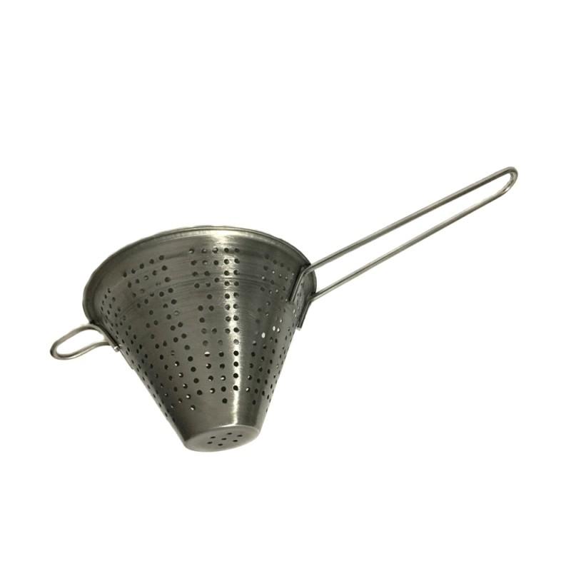 Strecurătoare Conică din Inox Grunberg, 18 cm, Sită 2 mm, Mâner şi Agăţătoare