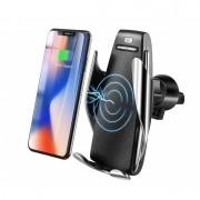 Suport Telefon cu Încărcător Wireless și Senzor Inteligent S5, Qi Auto Charger Universal, Cablu USB, Mașină