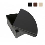 Taburet Pliabil de Colț cu Spațiu Depozitare Grunberg, 37 x 37 x 38 cm, Piele Ecologică, Diverse Culori