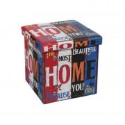 Taburet pliabil Heinner Home, 38 x 38 cm, Spațiu Depozitare, Model Home I