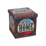 Taburet pliabil Heinner Home, 38 x 38 cm, Spațiu Depozitare, Model Home II