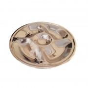Tavă Rotundă din Inox pentru Servire Zelmond, Platou 4+1, 35 cm