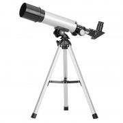 Telescop Astronomic Kids Hobby F36050, 360 mm, 60x, Refractor, Trepied, Sticlă și Metal, Argintiu