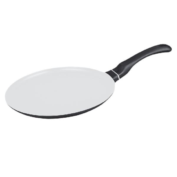 Tigaie pentru Clătite şi Blat Pizza cu Strat Ceramic DeKassa, 25 cm, Aluminiu