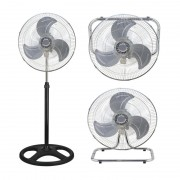 Ventilator de Cameră cu Picior 3 în 1 Victronic, 75 W, 3 Viteze, 45 cm, Cromat