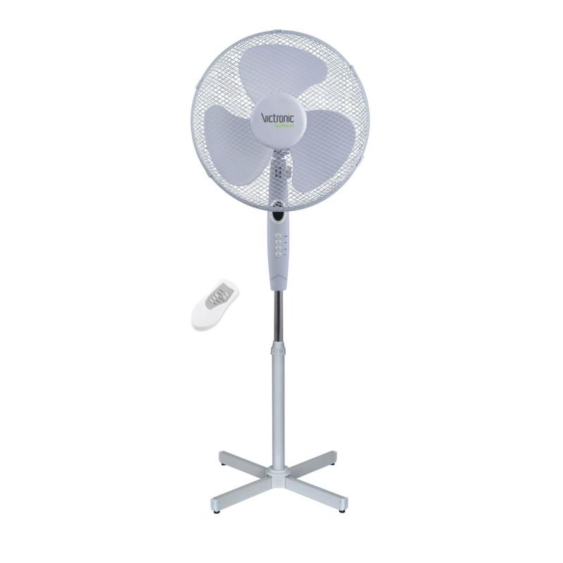 Ventilator de Cameră cu Telecomandă Victronic, 40 W, 3 Viteze, 40 cm, Alb